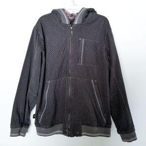 686 Grey Midweight Oversized Hooded Bomber Jacket